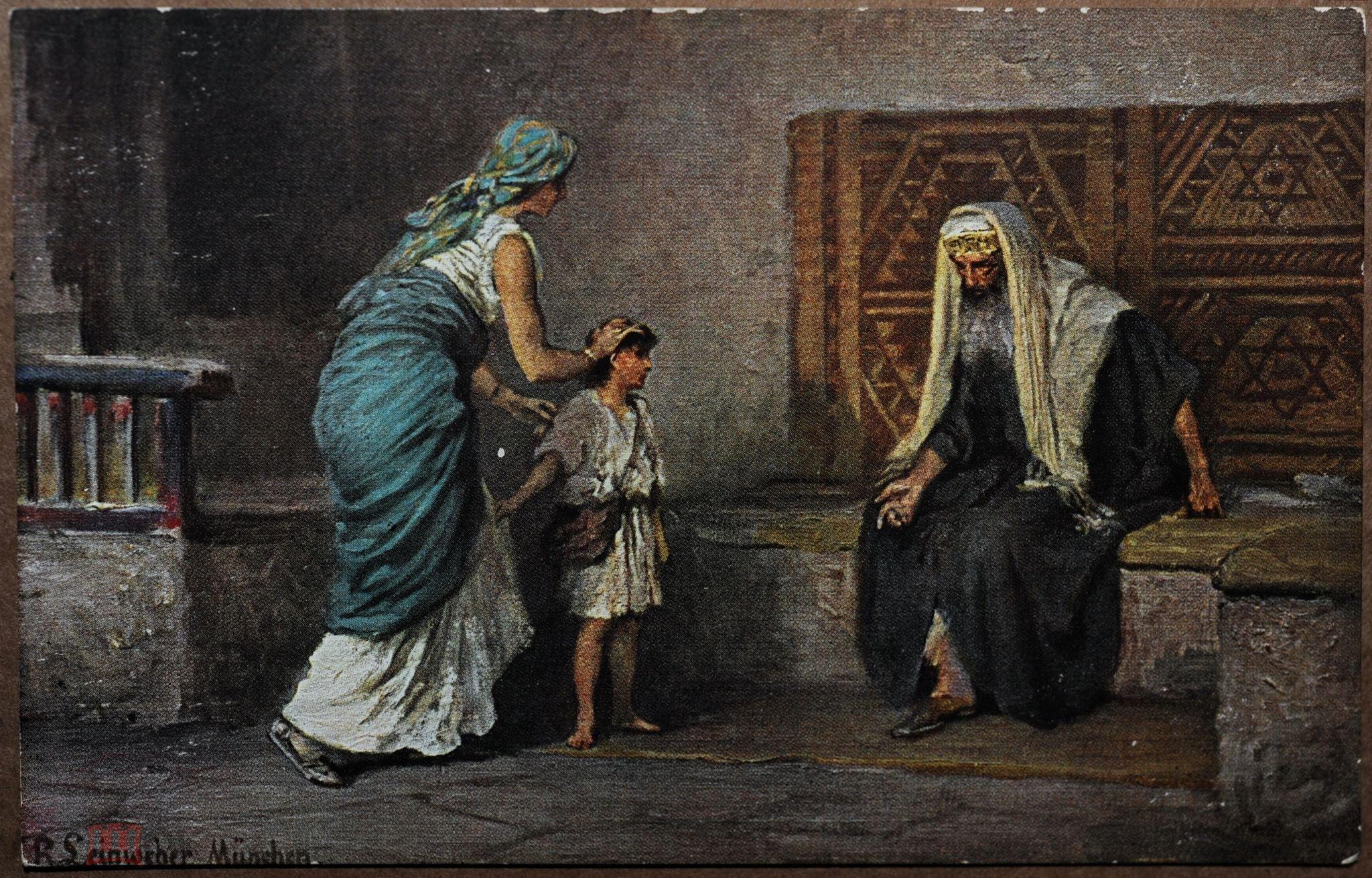 Старинные открытки библейские сюжеты роберт ляйнвебер, открытки