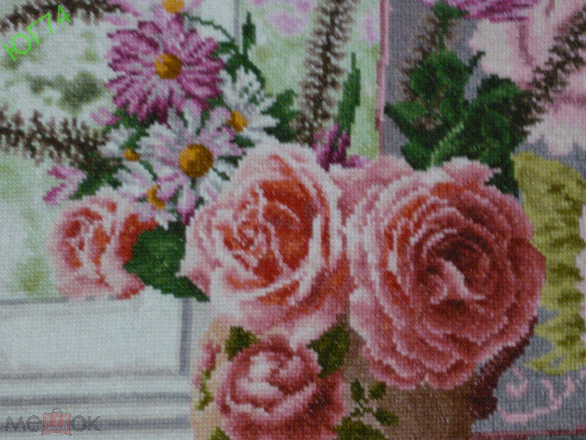 """КАРТИНА """"Воспоминания о лете"""". Ручная вышивка. 66 цветов, мулине """"MADEIRA"""" (Германия)."""
