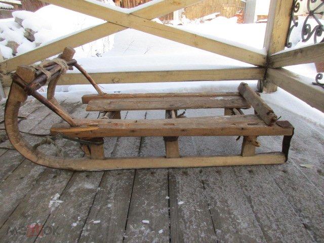 сани санки саночки деревянные старинные 302