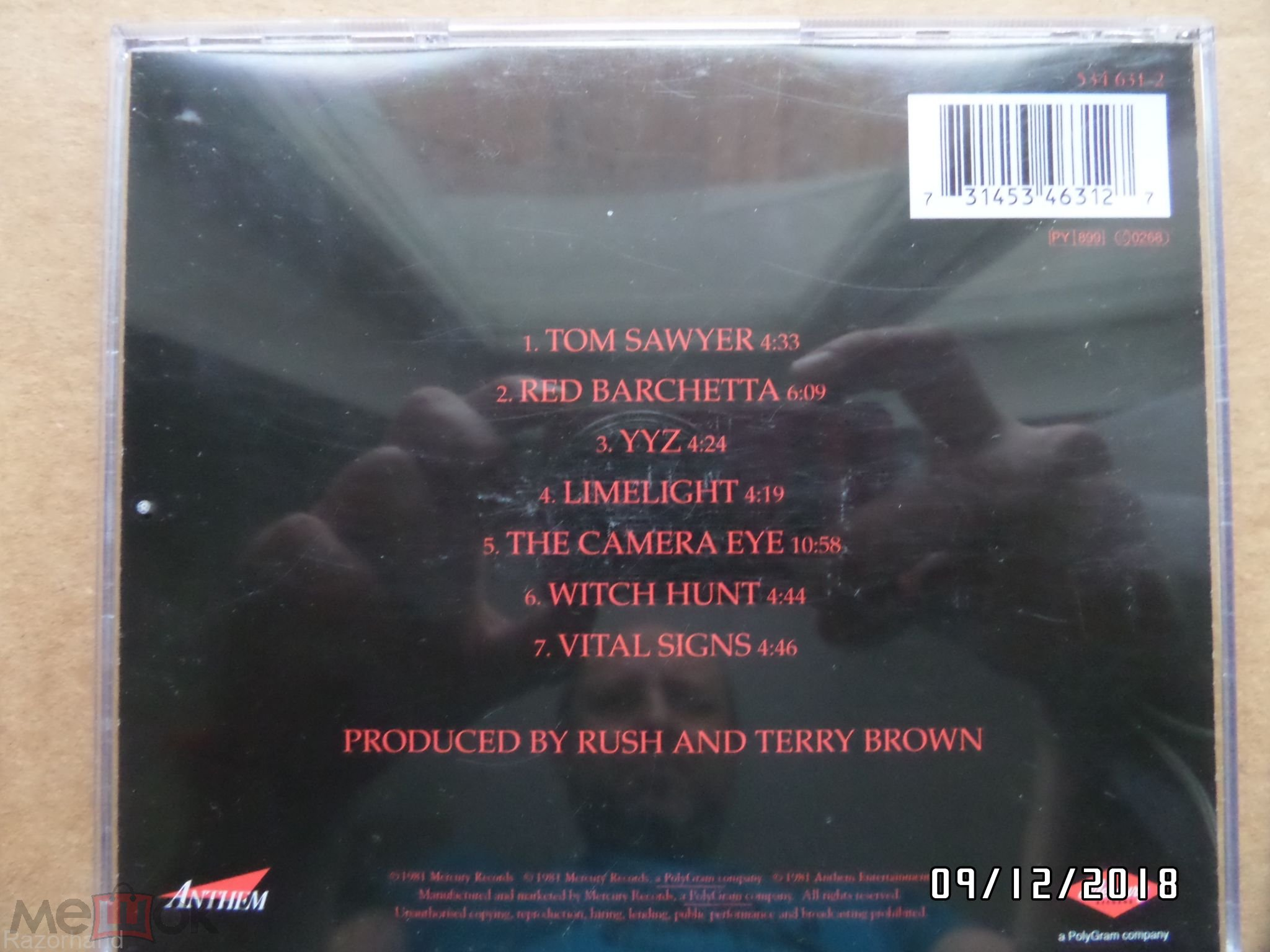 Rush 1981 Moving Pictures - Germany CD EDC - Mercury - Anthem