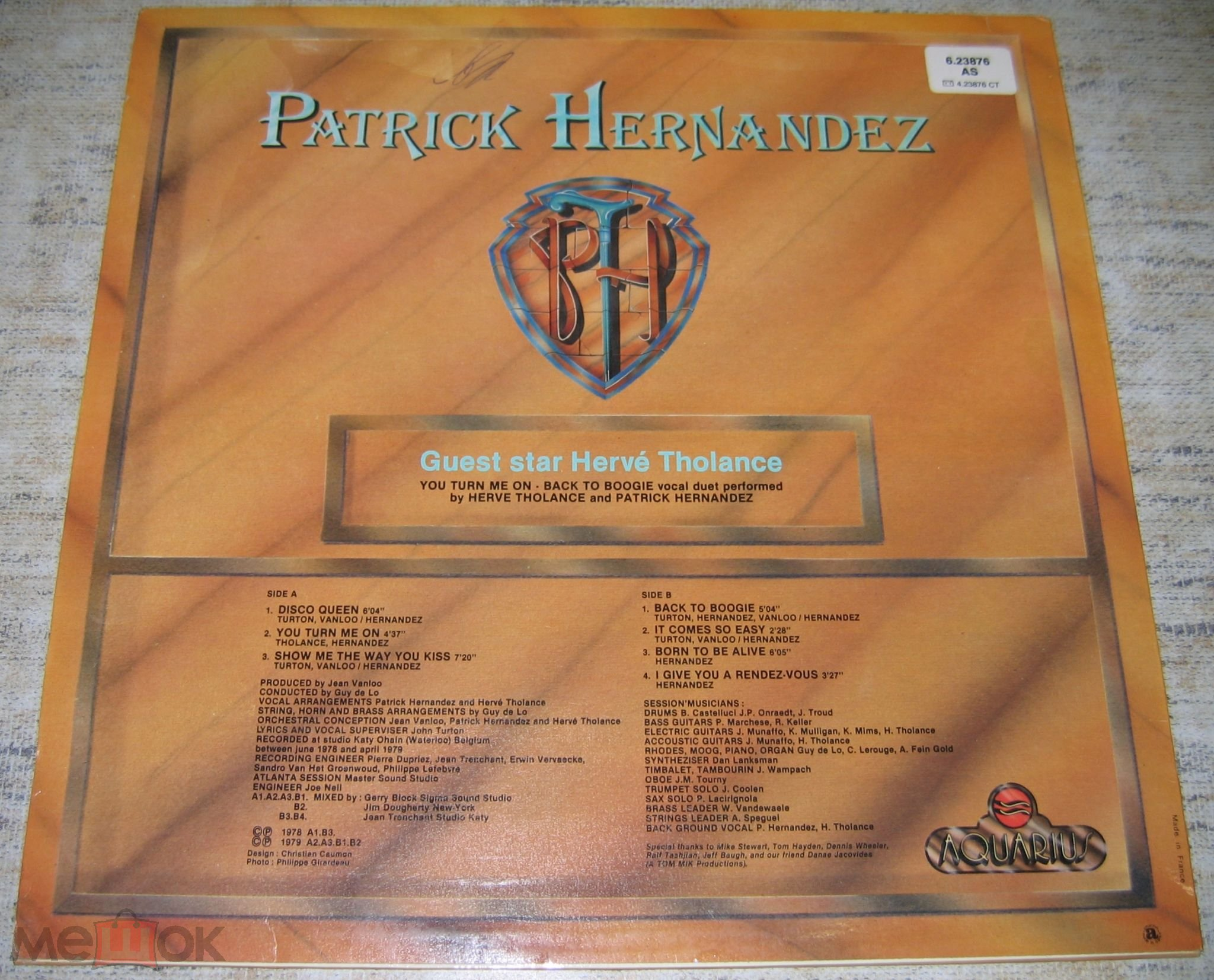 Patrick Hernandez ‎– Born To Be Alive  1979  LP  France