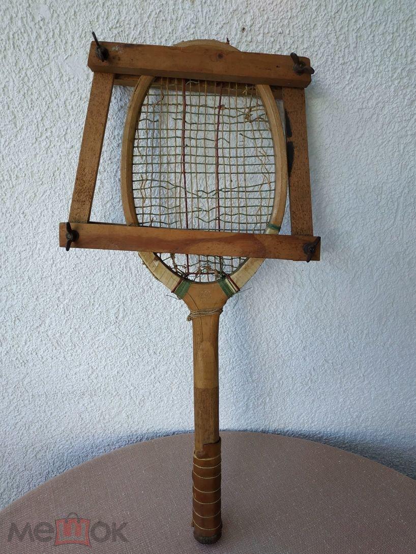 55487d1763353dc Антикварная деревянная теннисная ракетка,лаун-теннис, 1900 годы ...
