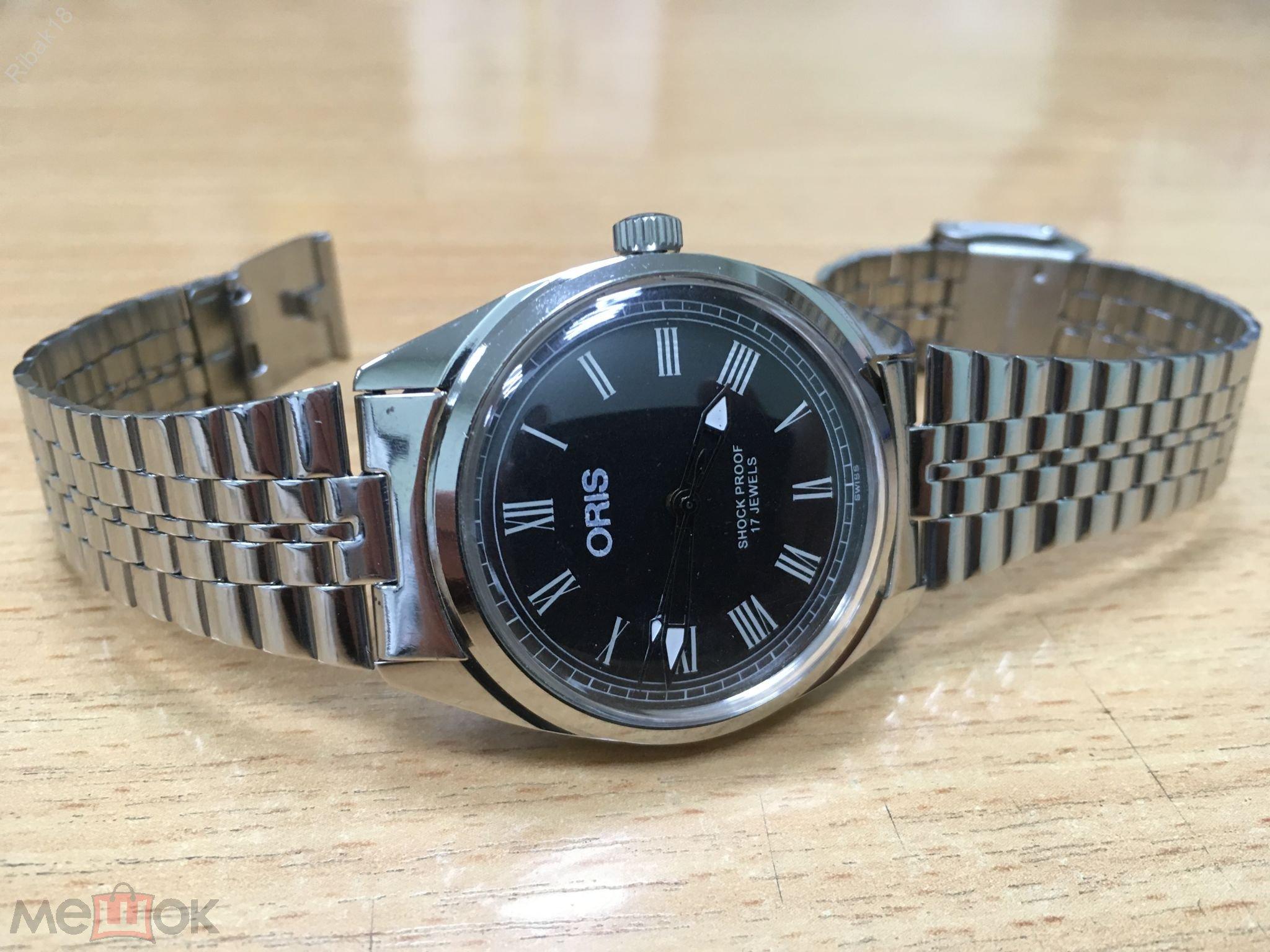 Мужские механические швейцарские наручные часы