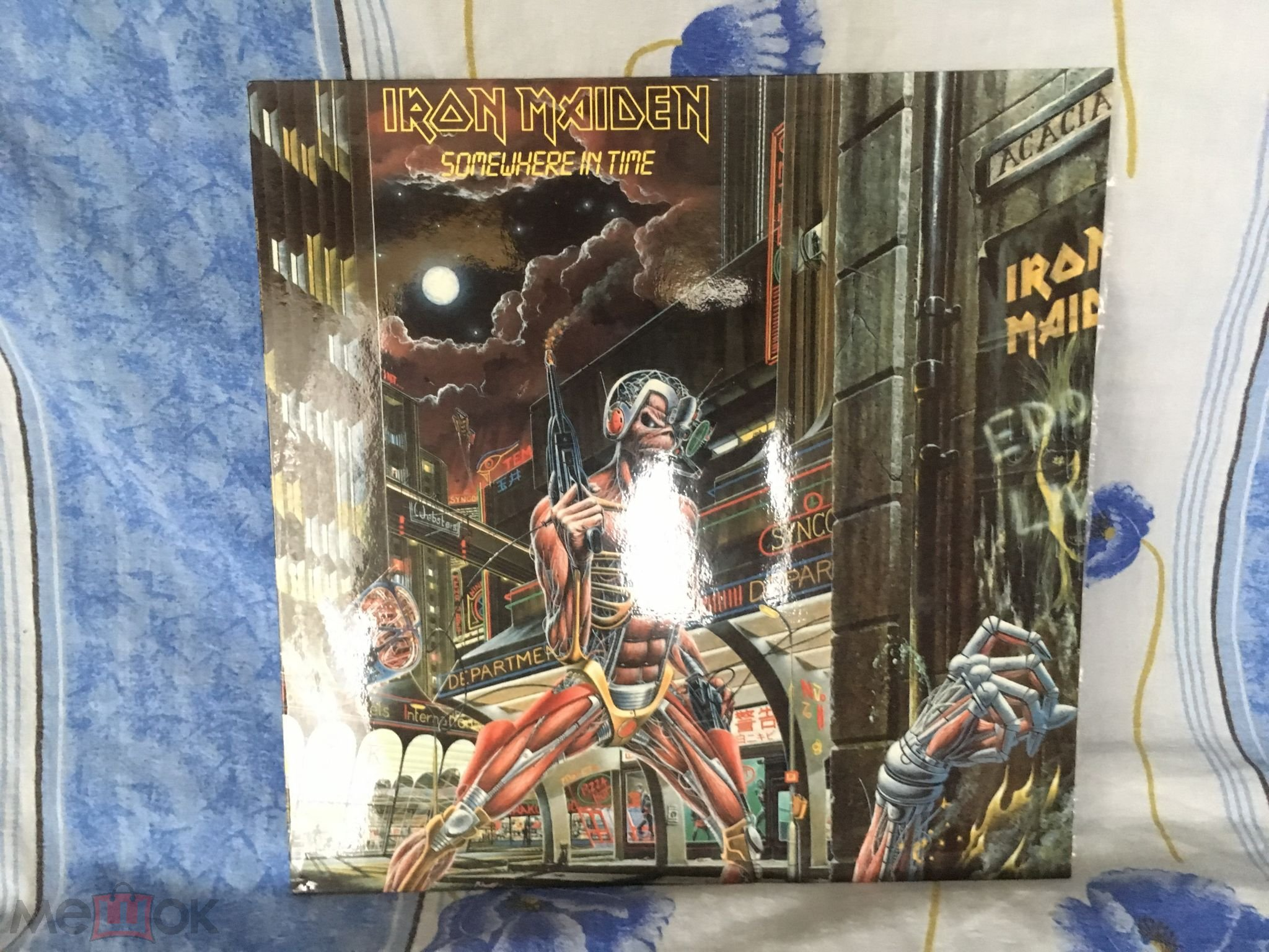 Iron Maiden Somewhere In Time Gala Records ламинат
