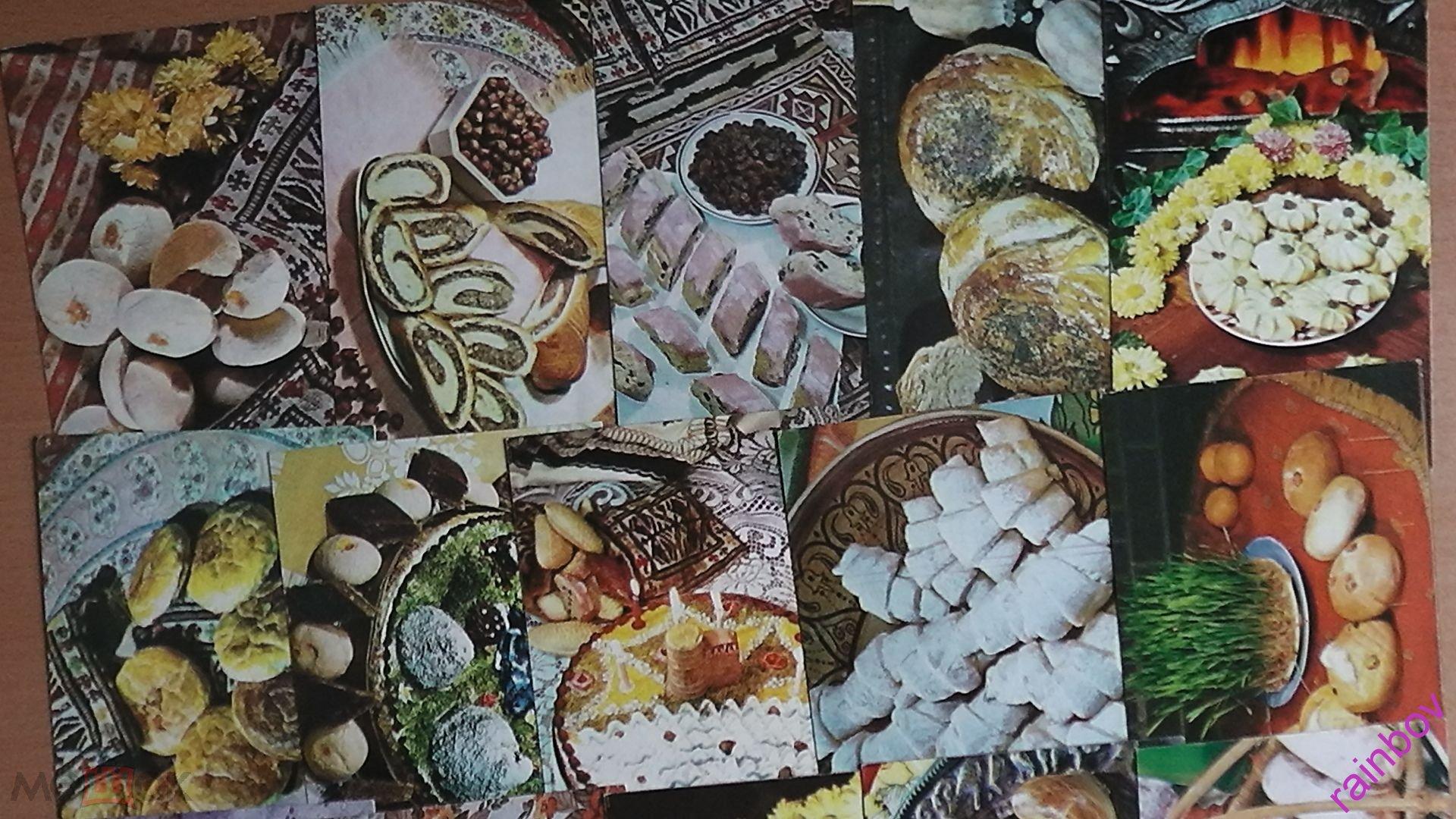 Простоквашино, блюда кухни комплект открыток