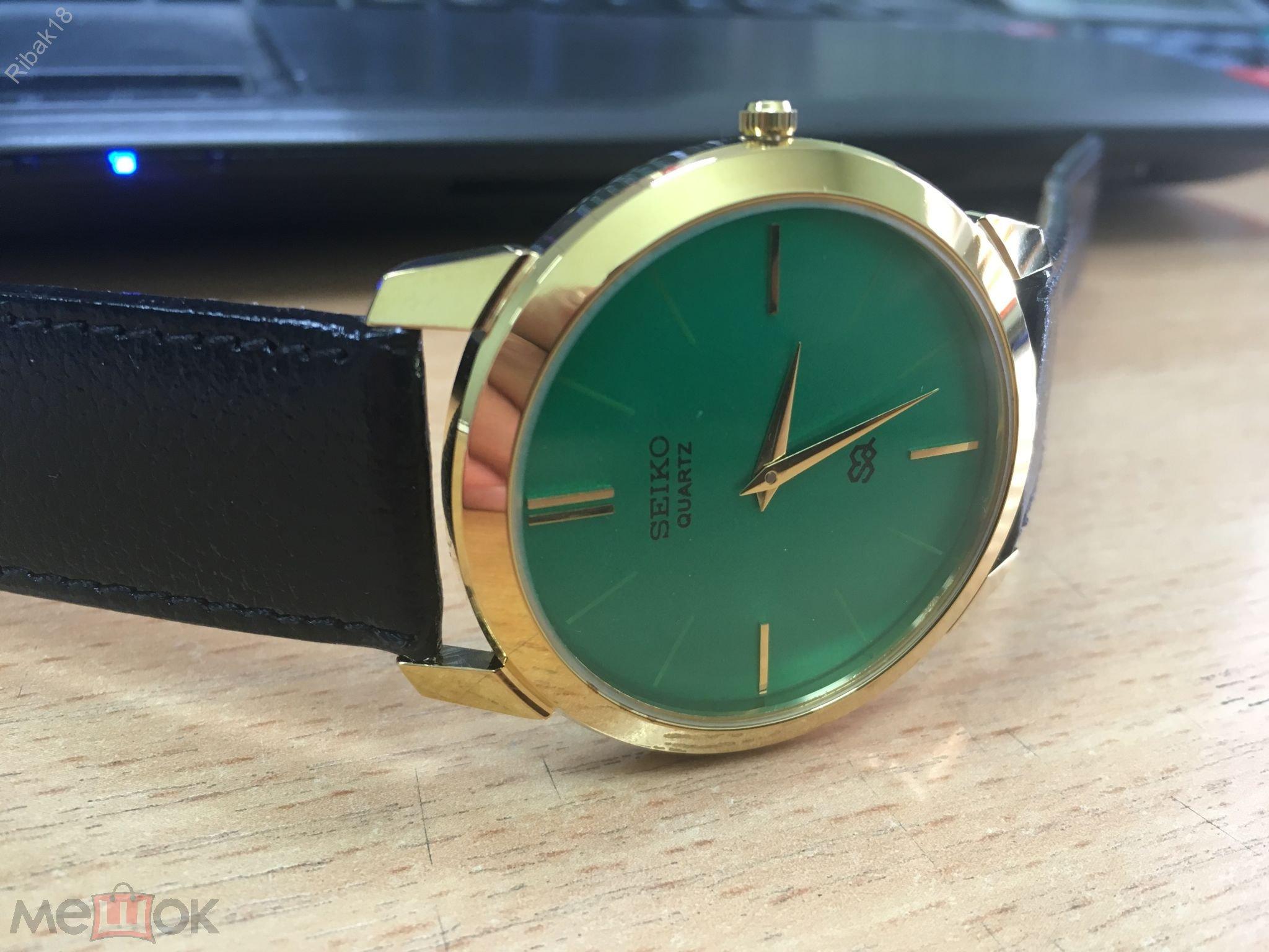 Супертонкие кварцевые мужские часы фото