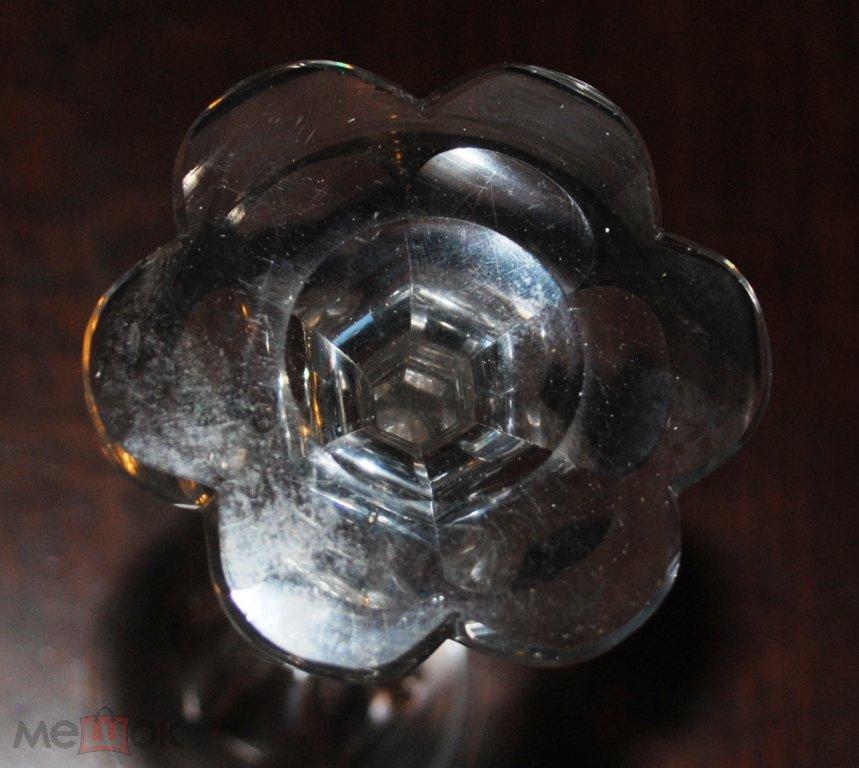 Бокал Фужер Флейта для шампанского старинный прозрачное стекло огранка Царская Россия