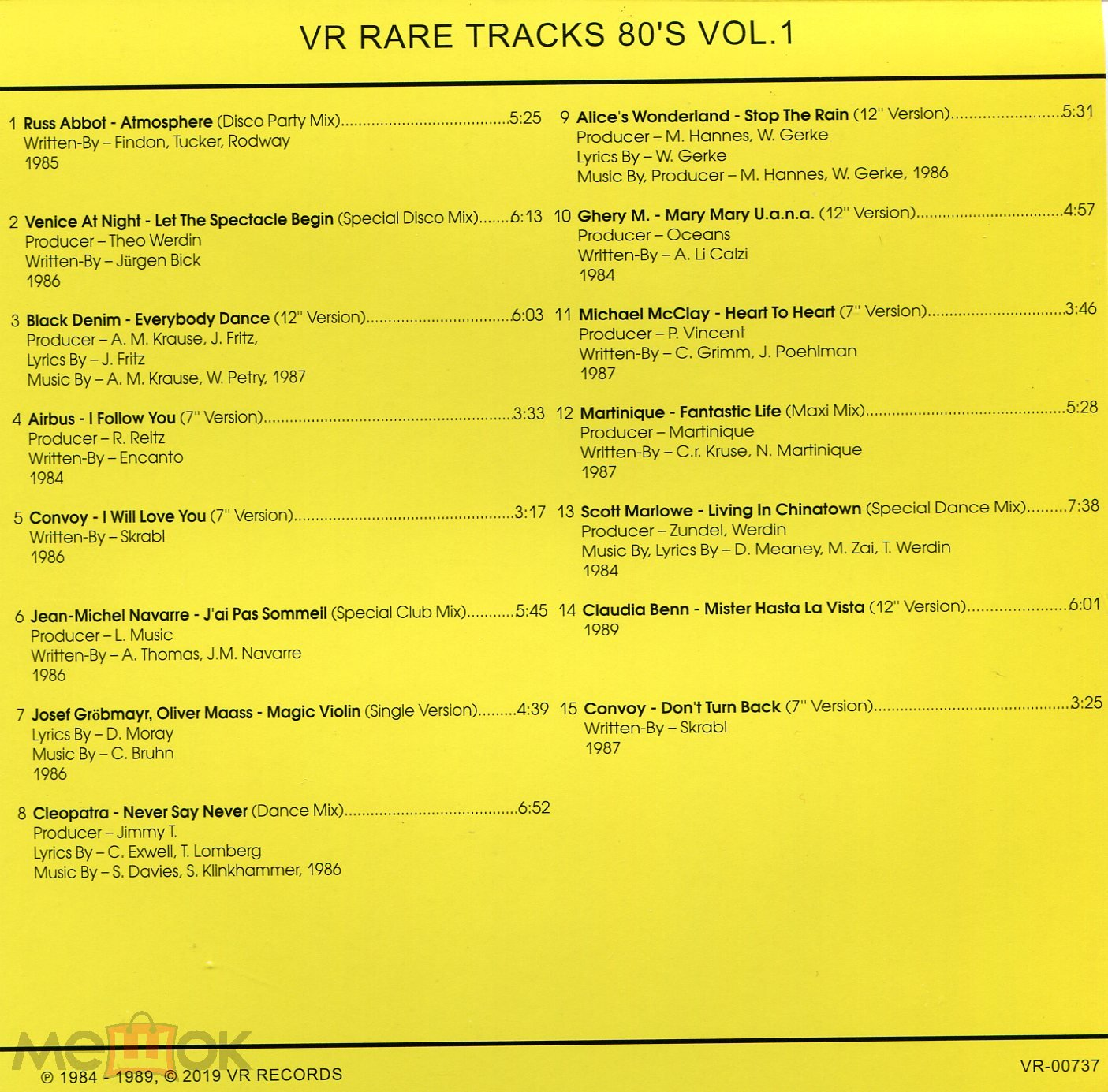 VR Rare Tracks 80's Vol 1 (Convoy Martinique Russ Abbot) CD