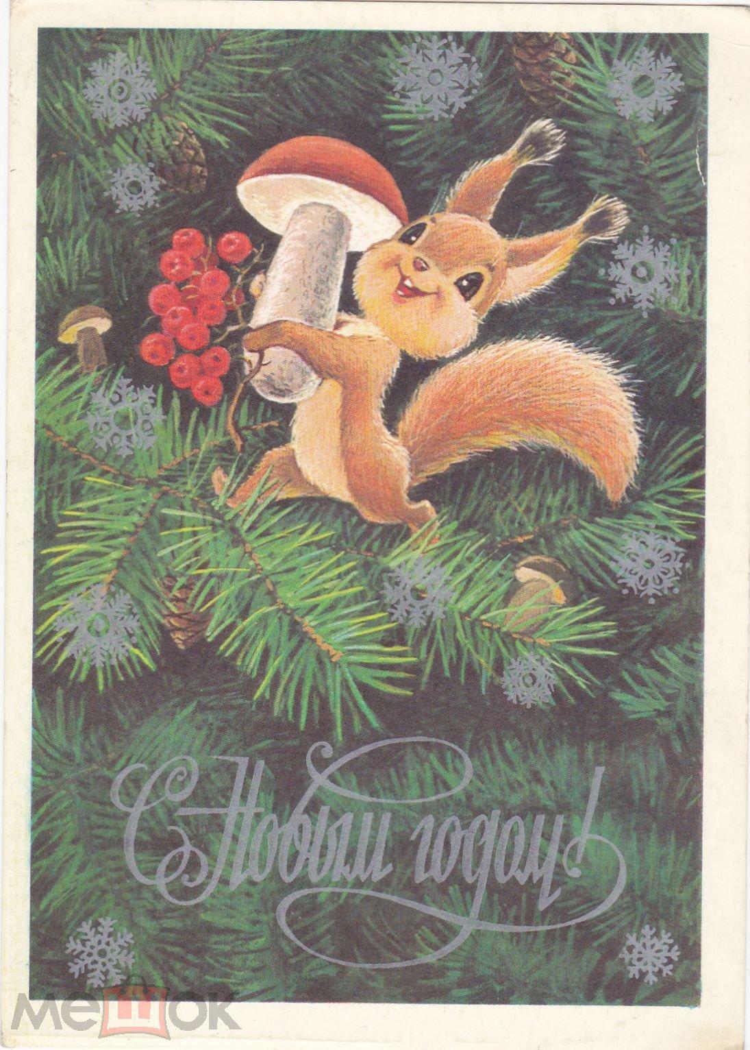 Белки новогодние открытки, картинки