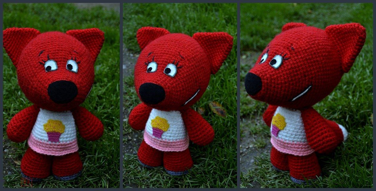 Игрушка Лисёнок  Лисичка из мультфильма Ми-ми-мишки вязание детское