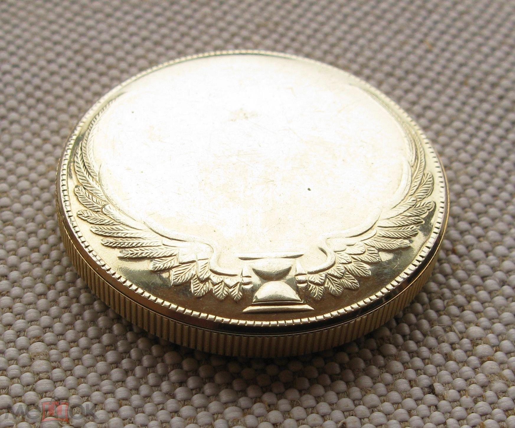 Карманные часы, BENRUS, Монета-часы, Швейцария, золото 585 проба, 36.7 грамма, 35.5мм диаметр, 6.5мм