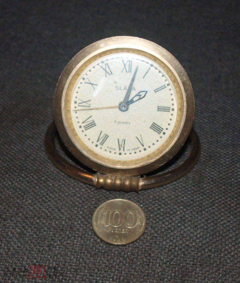 """Часы-будильник """"Слава"""", 17 камней. В ремонт."""