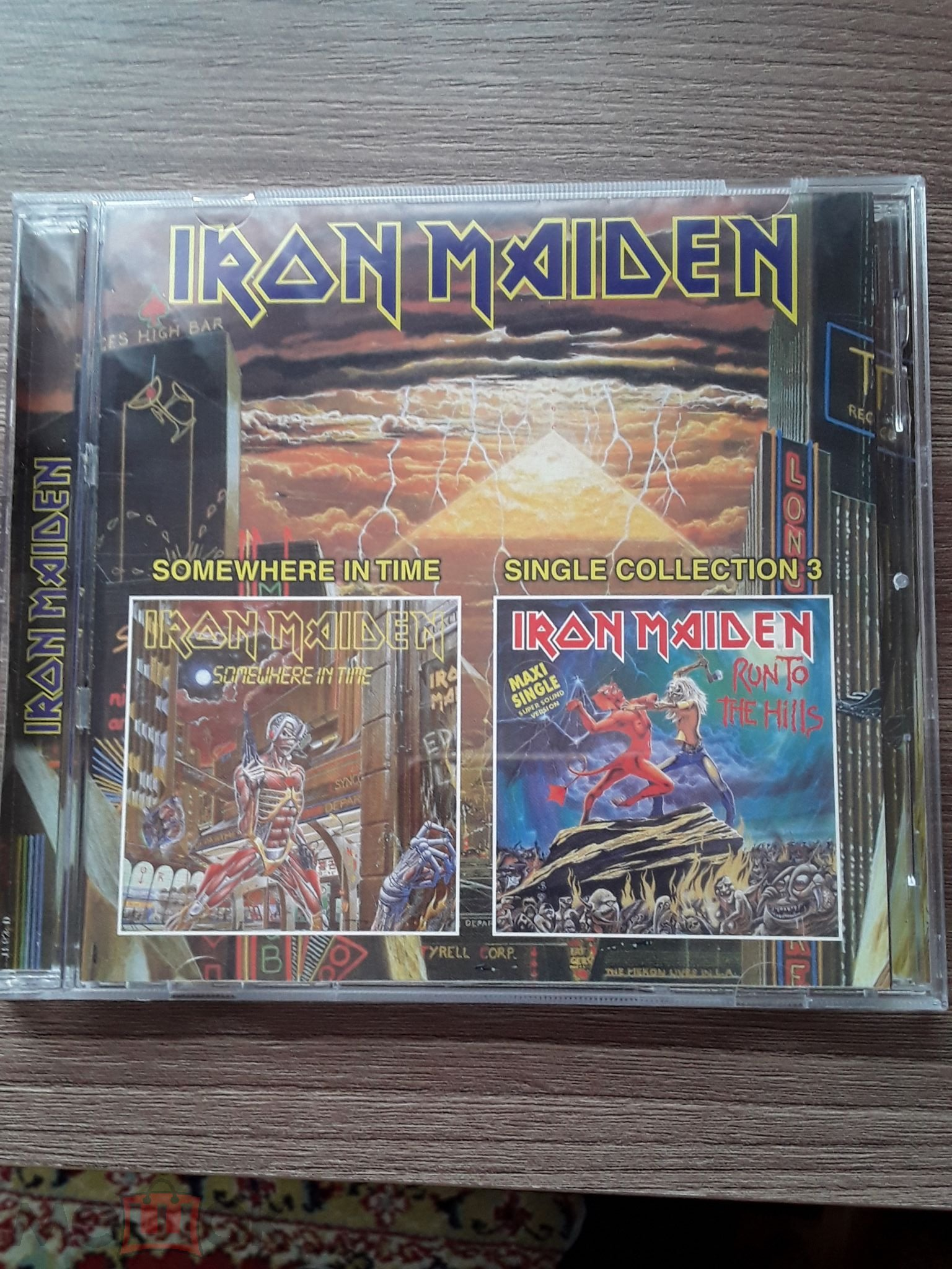 Iron Maiden Somewhere In Timesingles Hits Cd Maximum