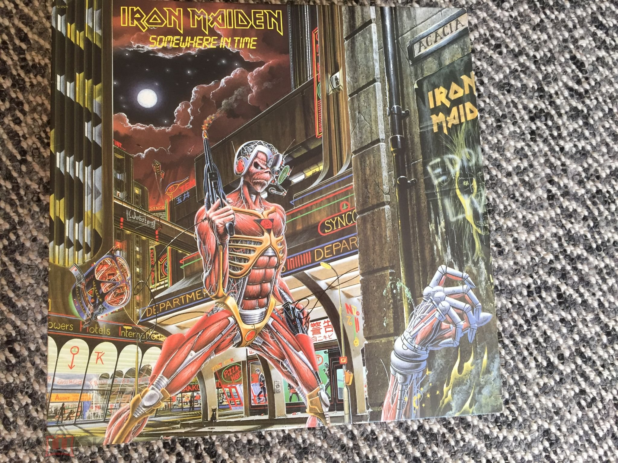 Iron Maiden 1986гsomewhere In Timemade In Usa