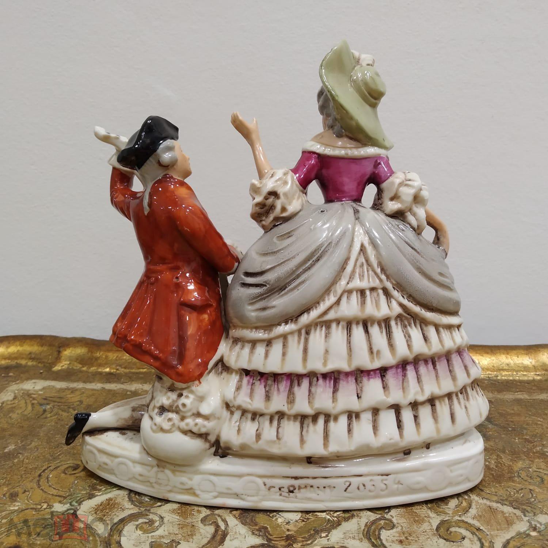 Фарфоровая статуэтка Серенада Дама и кавалер Графенталь Gräfenthal Германия.Редкость с 1 рубля.