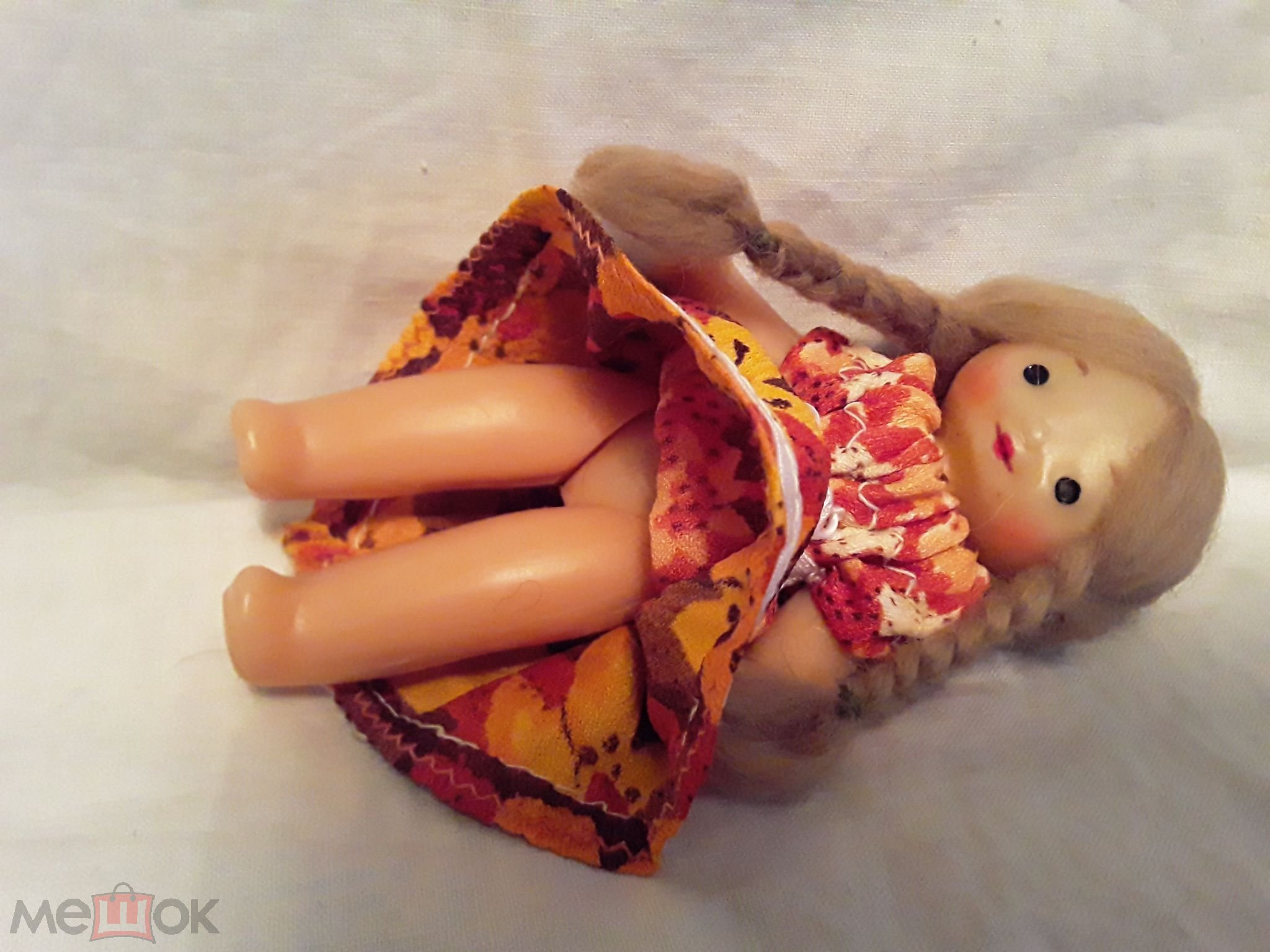 Кукла СССР  Паричковая  12  см. Маленькая очаровательная куколка улыбашка. Не частая.