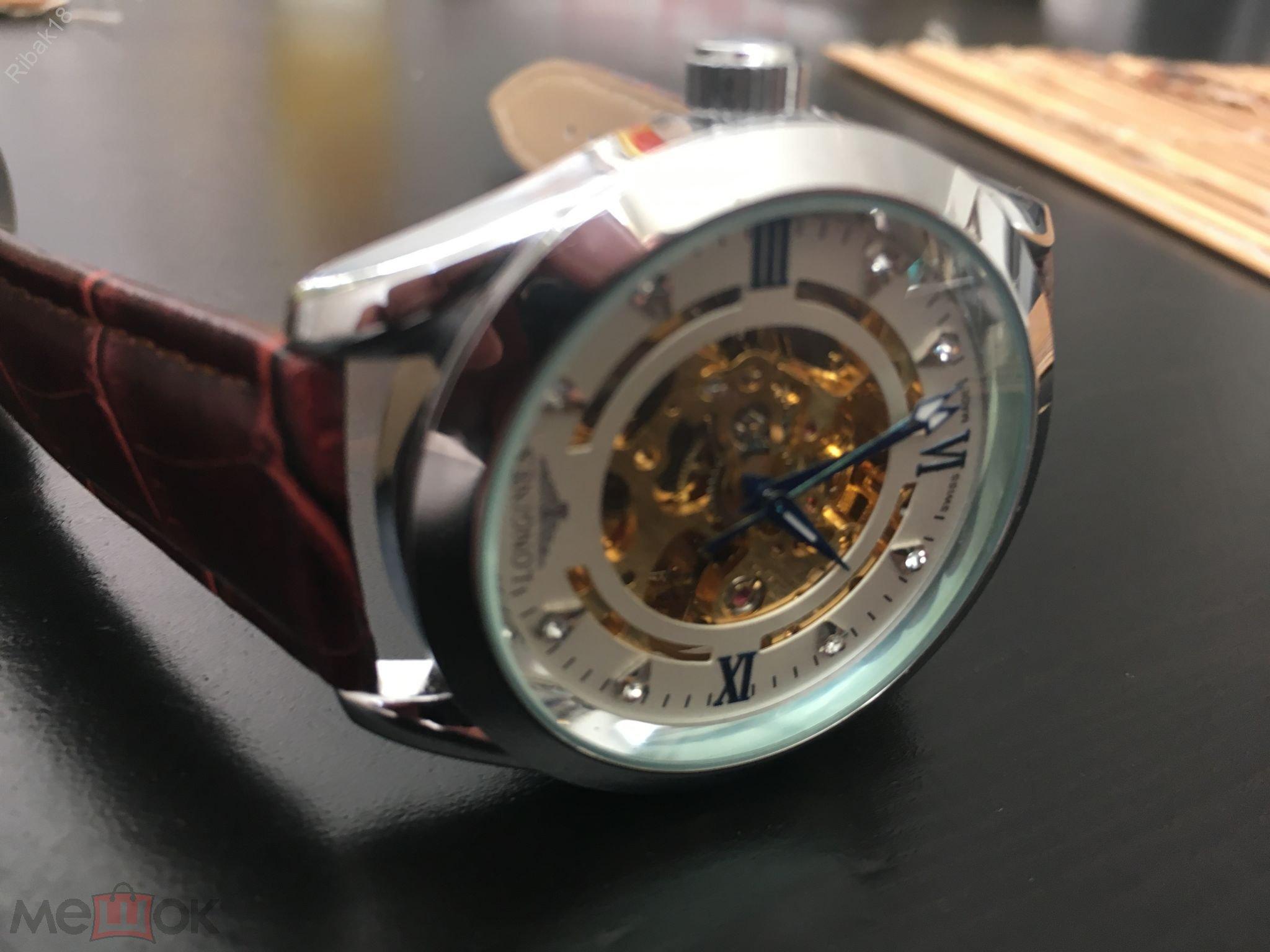 Longines швейцарские часы механические мужские - Видео есть!