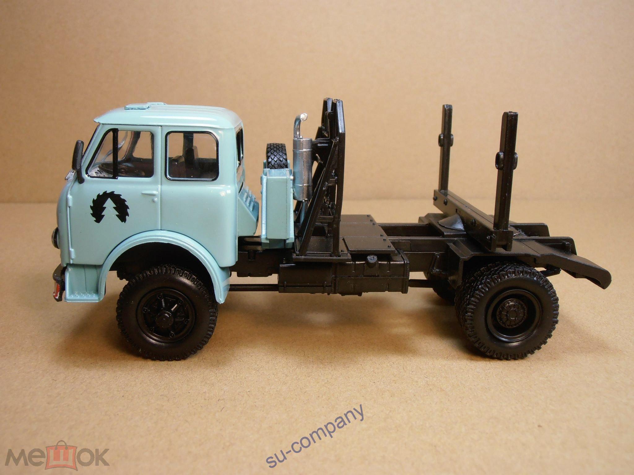МАЗ 509П лесовоз 1965 светло -зеленый Наш АвтоПром НАП H716 MAZ 509 металл Truck металл 1:43
