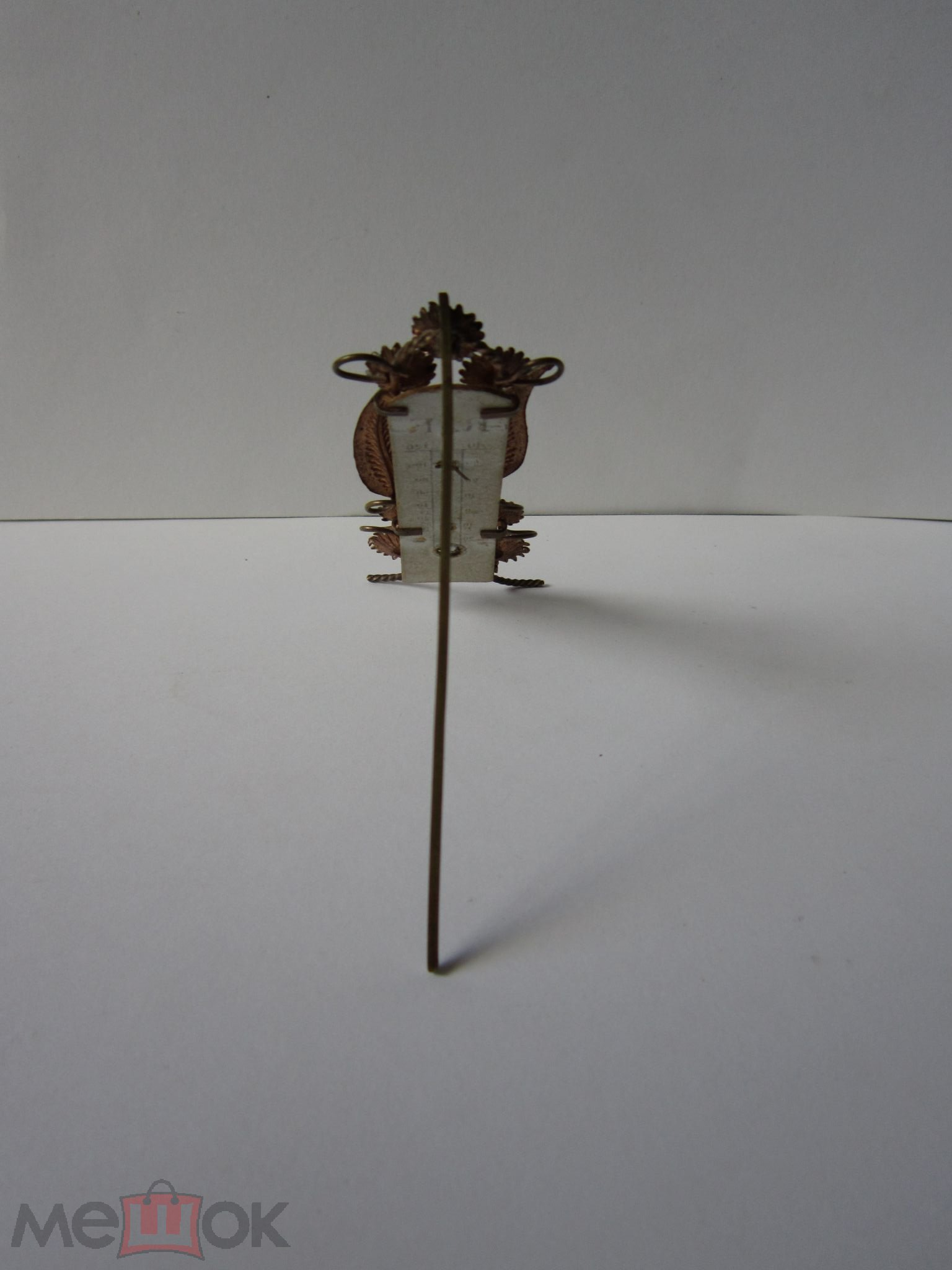 Антикварный комнатный настольный ртутный термометр. Шкала Реомюра и Фаренгейта. Кон 19 нач. 20 века.