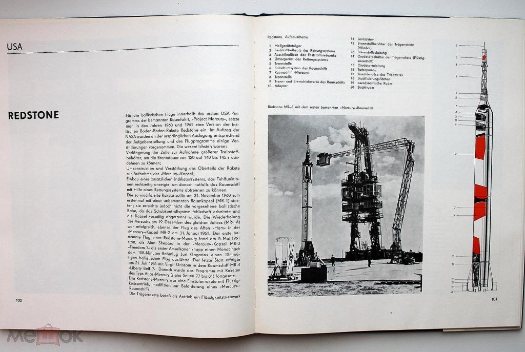 P. Stache / RAUMFAHRT-TRAGERRAKETEN (ГДР. Берлин, 1975) РЕДКОСТЬ