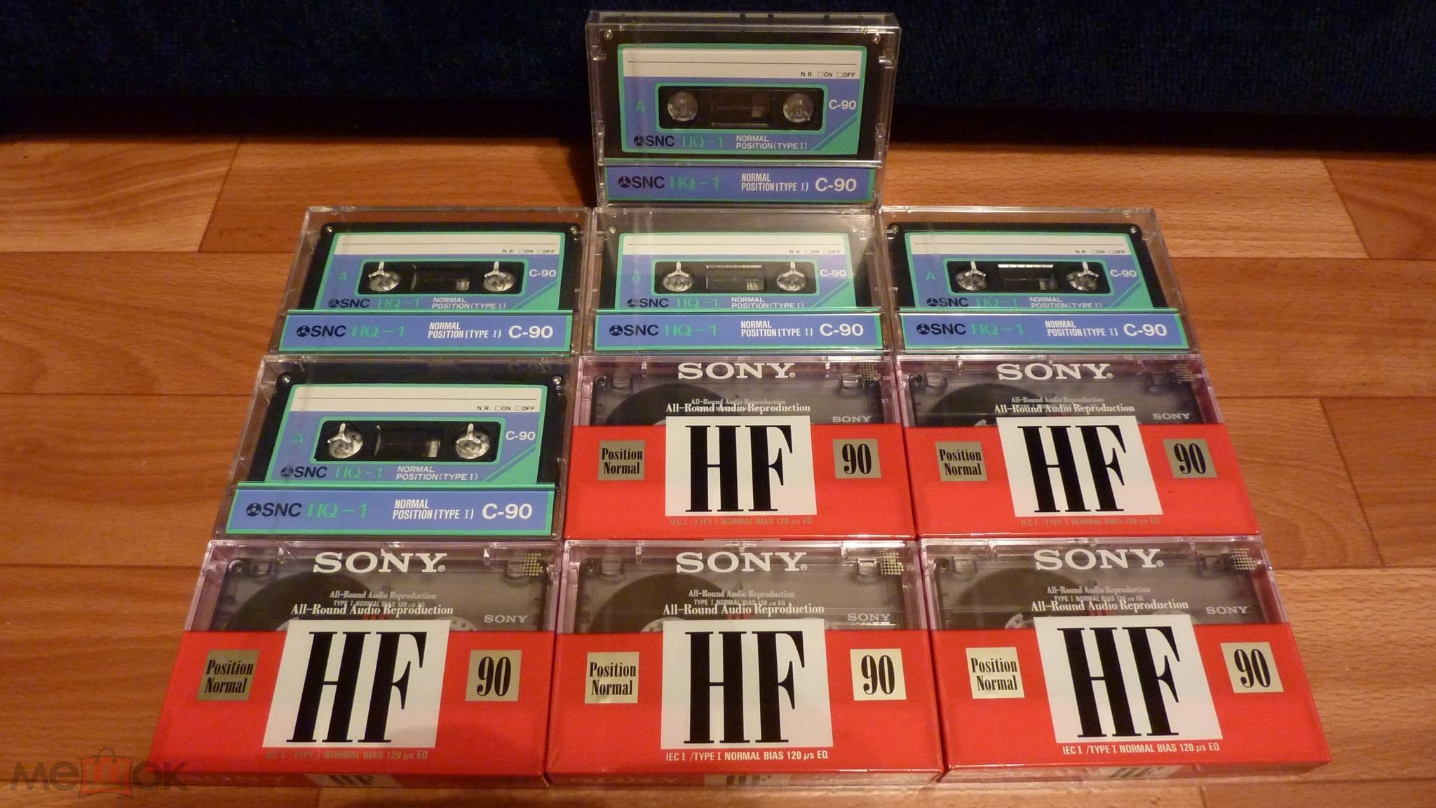 Лот из 10 штук запечатанных аудиокассет SNC/SONY с 1 рубля!!!