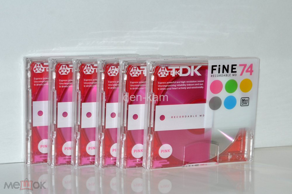 Mini Disc TDK MD FINE 74 PINK MD-FN74PKA   JAPAN MARKET