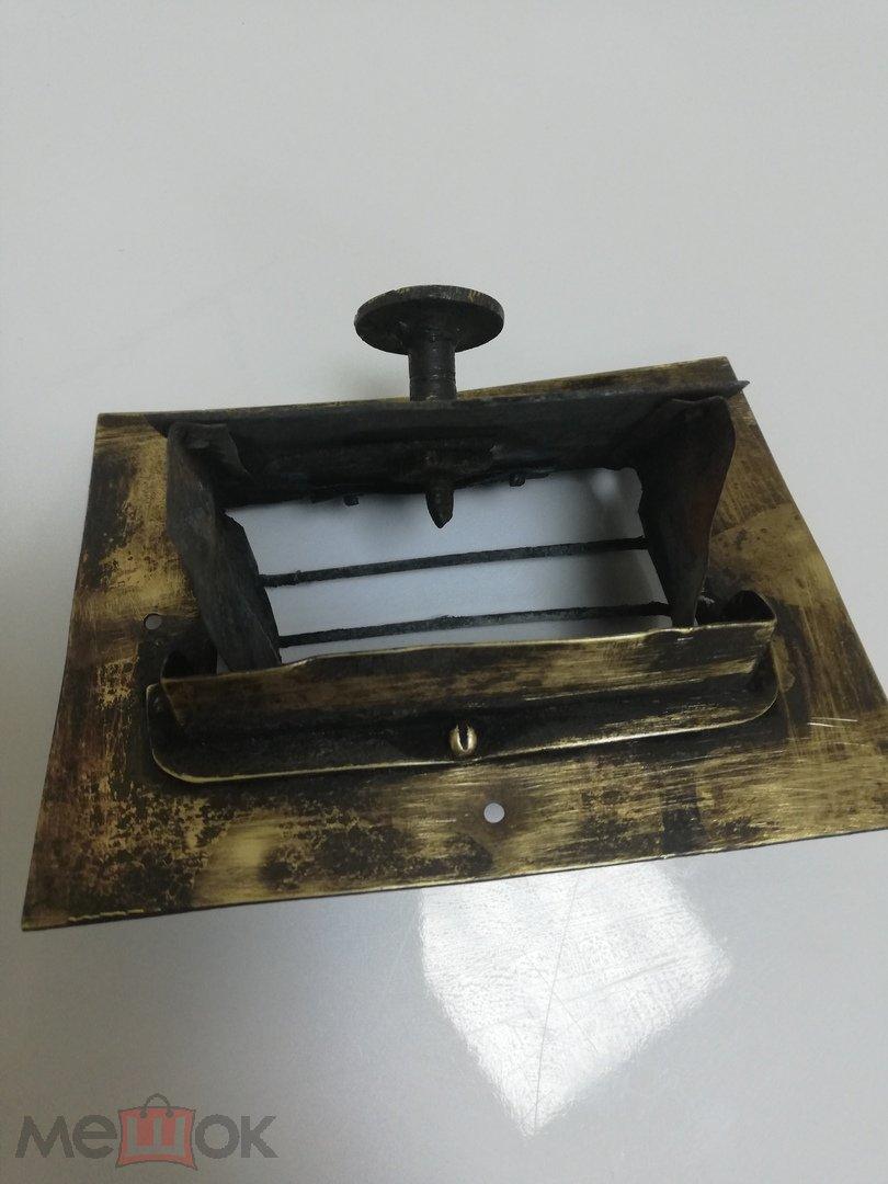 старинная  латунная печная вьюшка  вытяжка камин