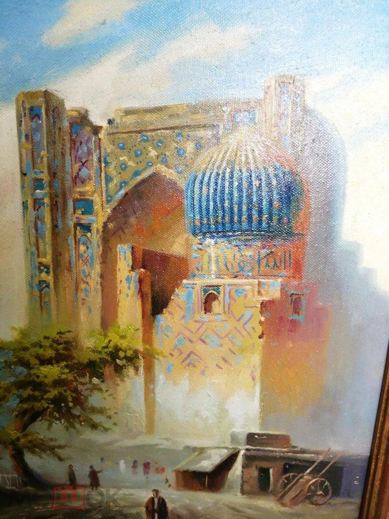 Восточная Картина. Мечеть с голубыми куполами. С 1 Рубля!