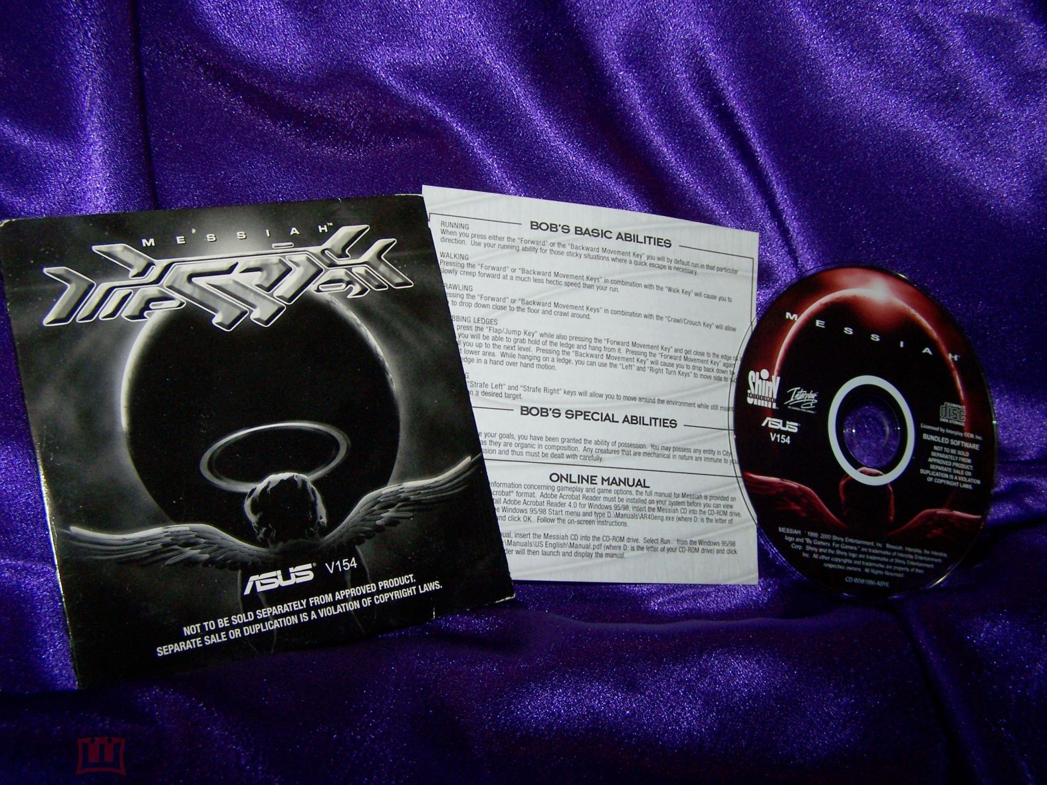 Messiah. 2000 г. Английская версия. Лицензия. Приложение к видеокарте ASUS ( V154 ). PC CD-ROM