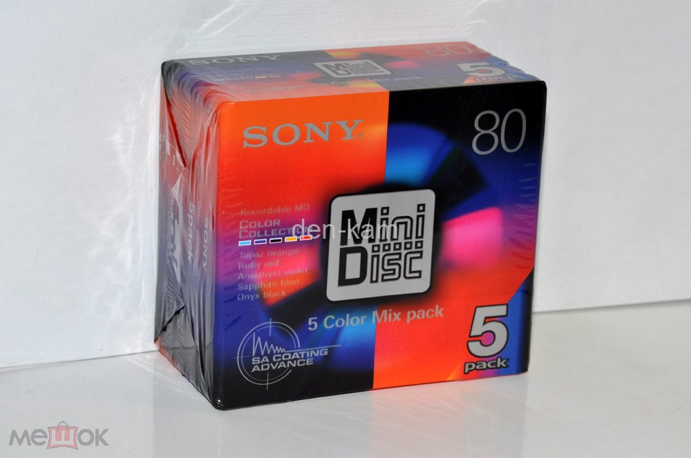 Mini Disc SONY MD 80 5 COLOR MIX 5PACK JAPAN MARKET (3230)   ЦЕНА ЗА 5 ШТ!!!