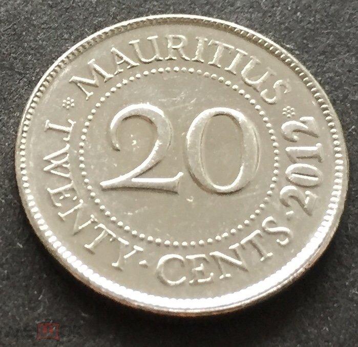 МАВРИКИЙ 20 ЦЕНТОВ 2012 г . (м4060)
