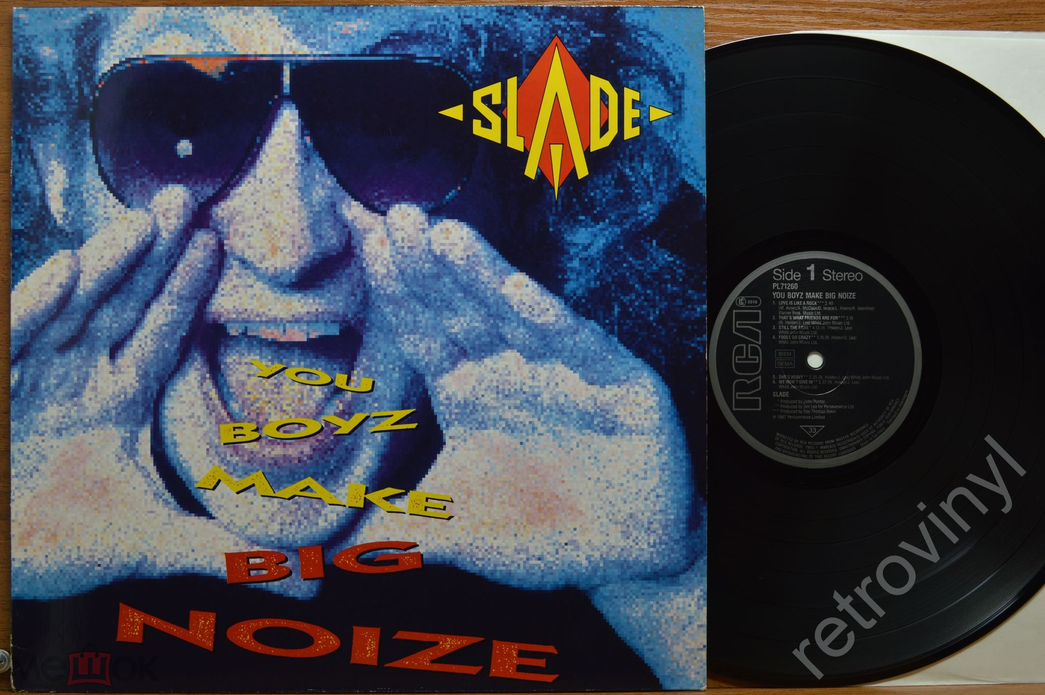 SLADE - You Boyz Make Big Noize - PL 71260 RCA/ Perseverance Ltd. ORIGINAL 1987 год GERMANY пресс EX