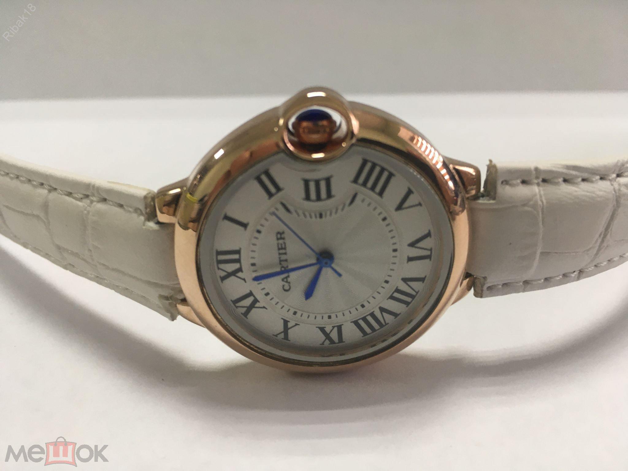 Cartier женские часы кварцевые новые.