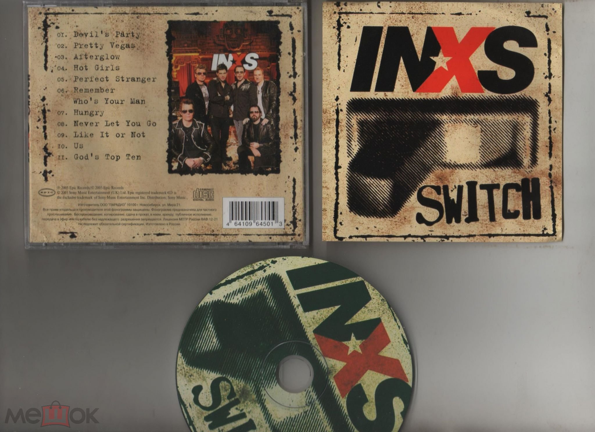 INXS ‎– Switch (Russia, Unofficial Release )