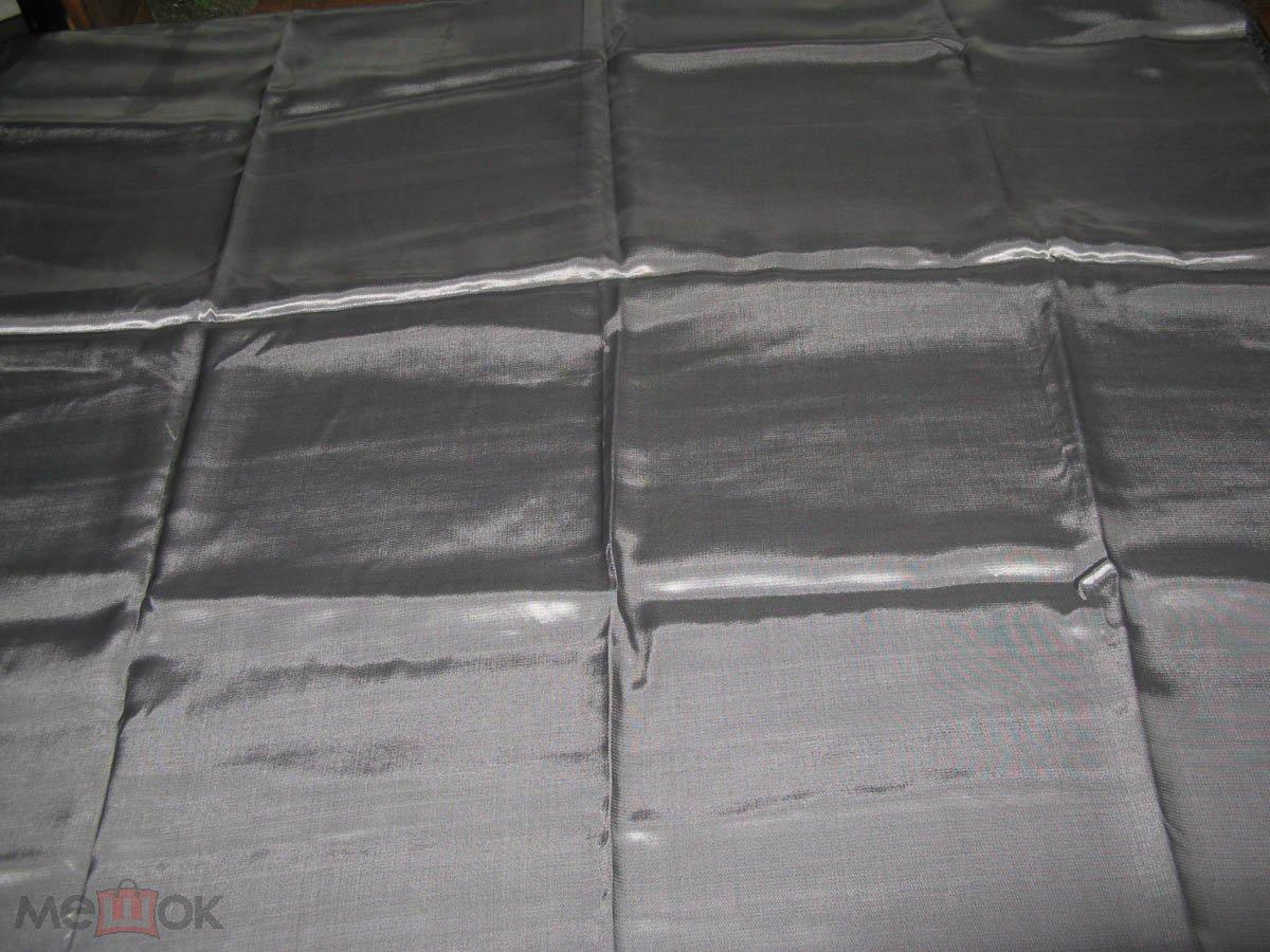 Ткань шелк подкладочный саржа натуральная 110 х 200 см цвет серо-стальной