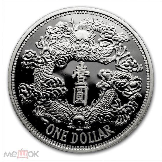 2018 Китай Дракон Tientsin 2-й рестрайк серии серебро 999 1 унция ТИРАЖ !!!