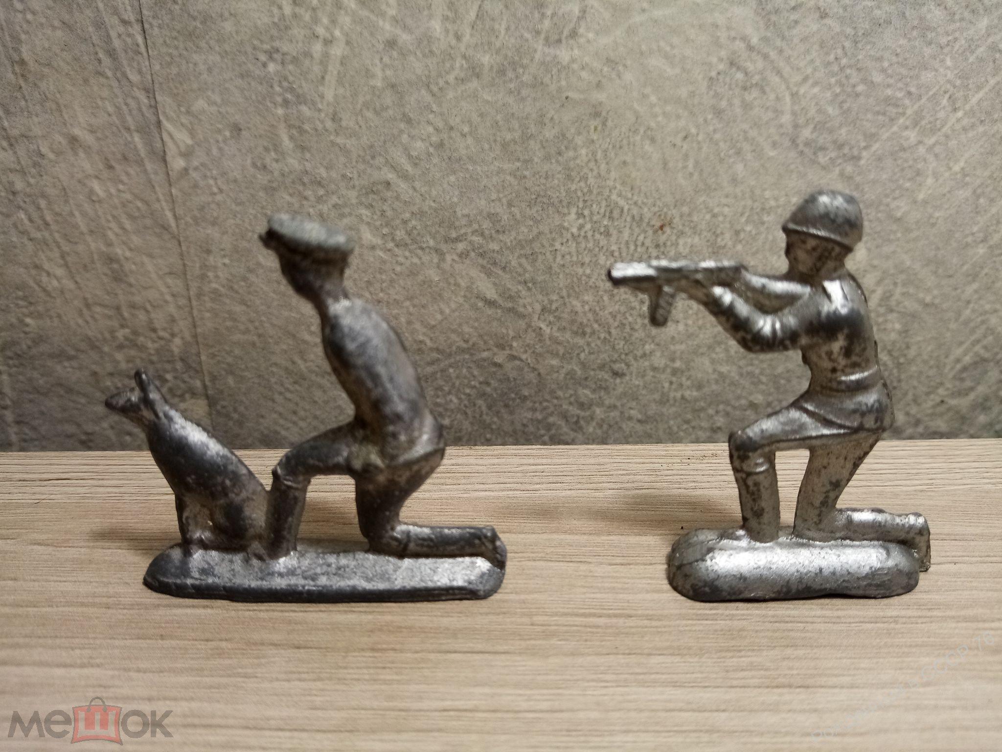 Оловянные солдатики. 7 шт. одним лотом. Детство. Времен СССР. Оригинал.