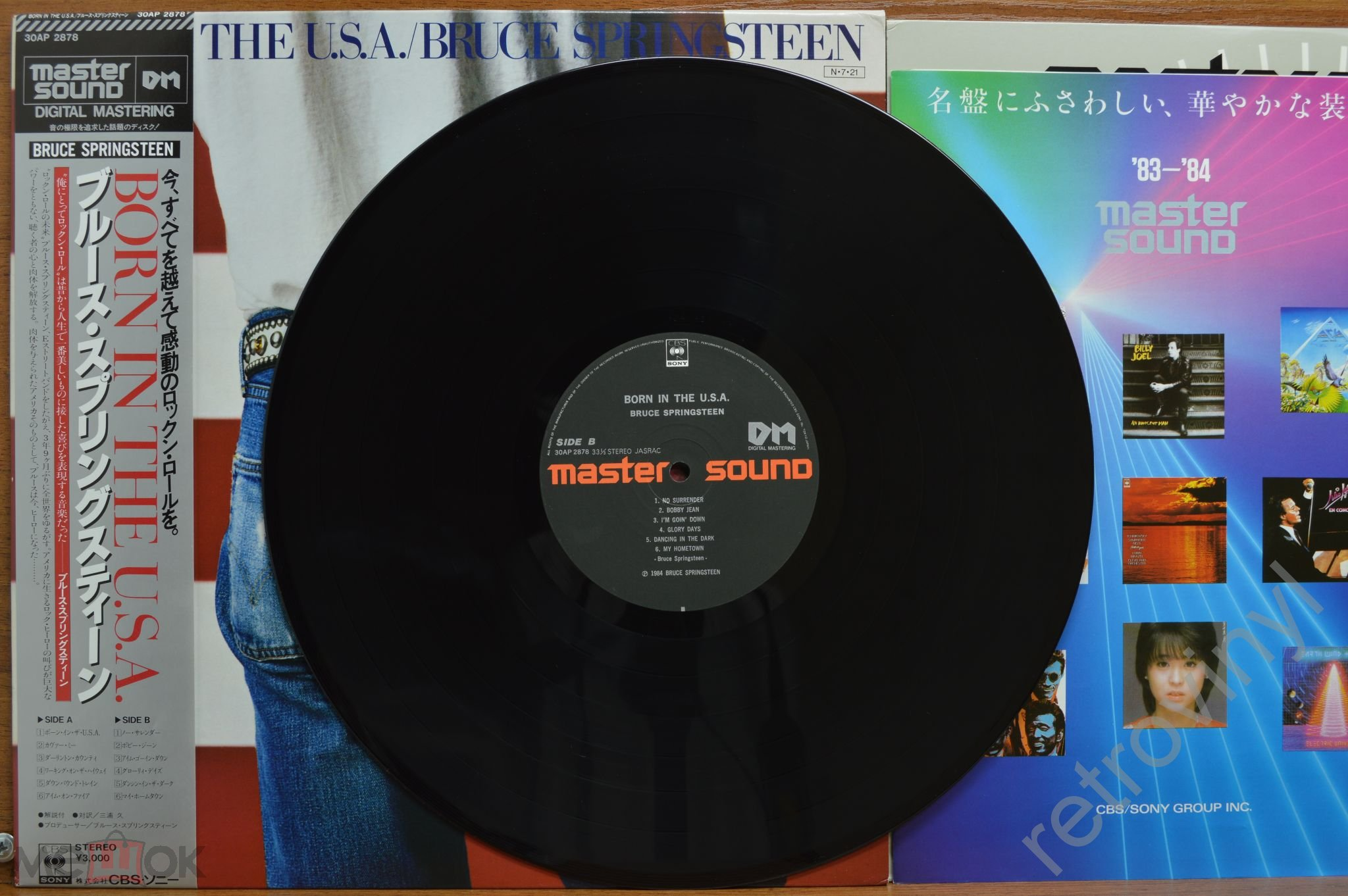 Bruce Springsteen - Born In The USA - CBS/Sony 28AP 2850 =MASTER SOUND= ORIGINAL 1984 JAPAN пресс NM