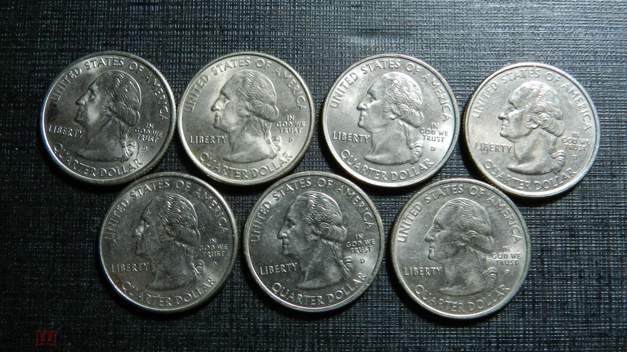 США , 25 центов 2000 г. Квотер . штат Вирджиния .