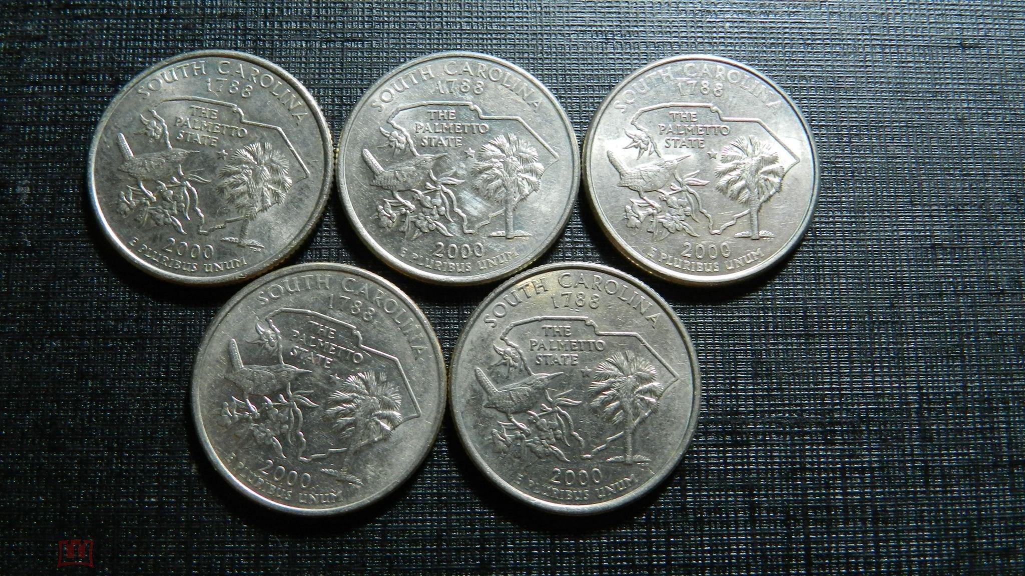 США , 25 центов 2000 г. Квотер . штат Южная Каролина.