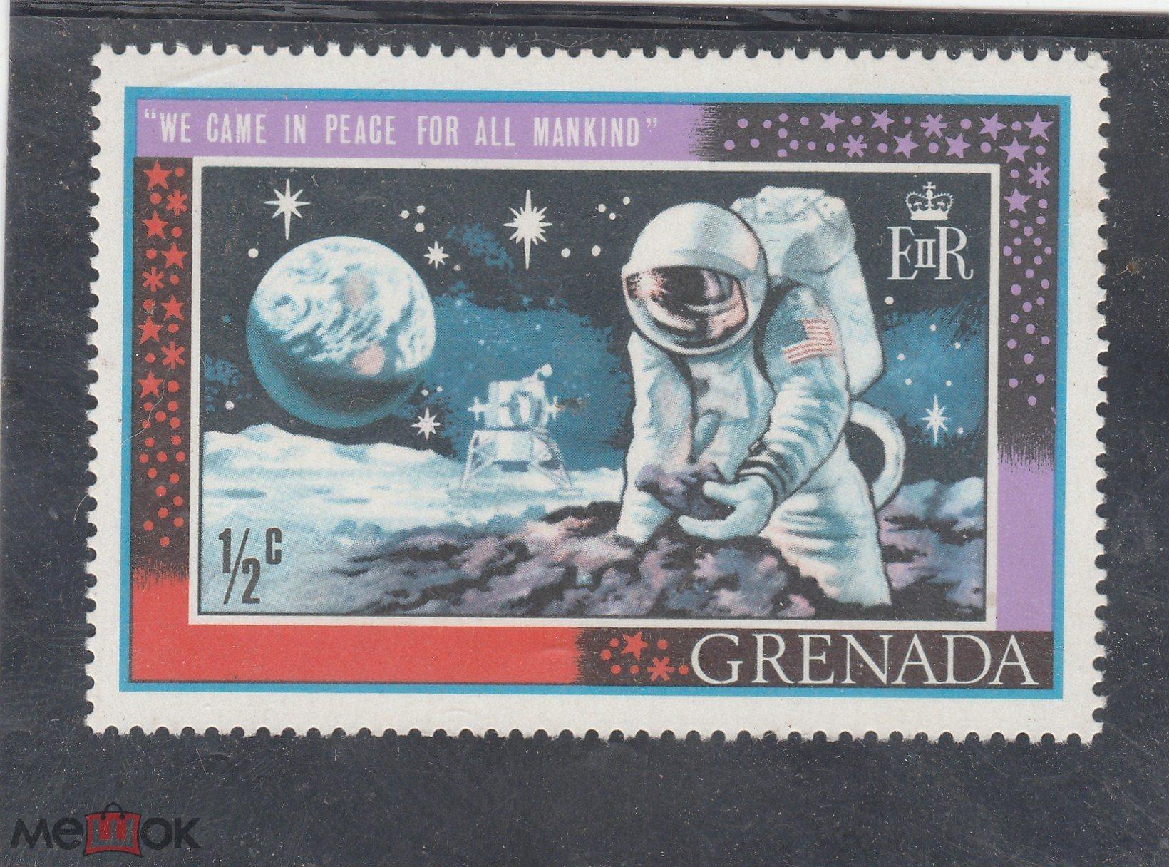Гренада 1969 год. Космос. Программа освоения Марса и Луны. РАСПРОДАЖА! ЧИСТАЯ.