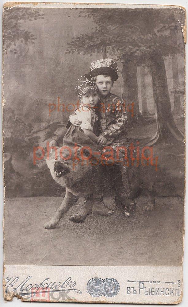 ~ ДЕТИ, мальчик и девочка, наряды из русских сказок, чучело волка, мода. РЫБИНСК, Лежнев