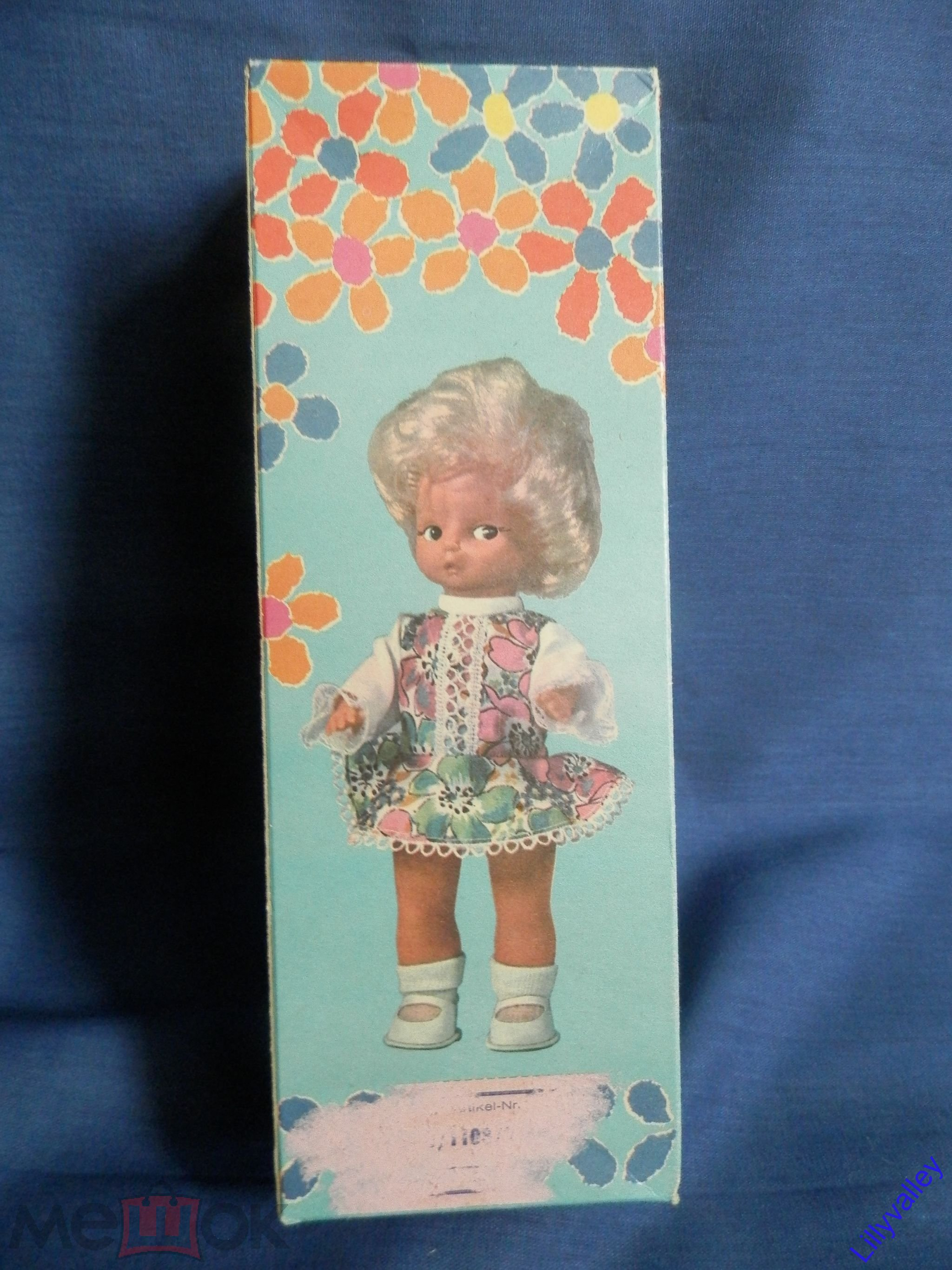 Кукла немецкая пупсик  ГДР  ,  новая 19 - 20 см, оригинальная одежда, туфли.Упаковка коробка
