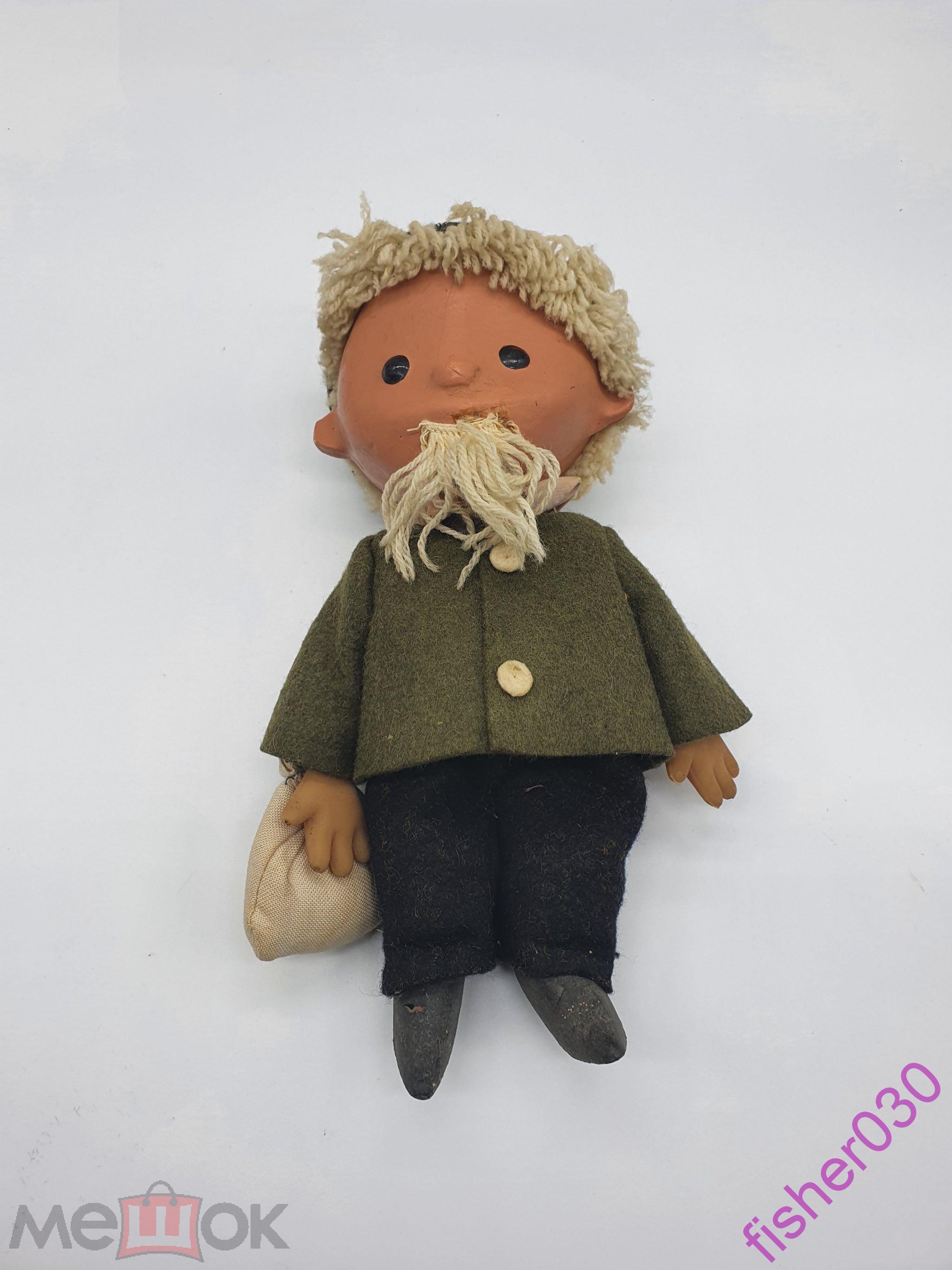 Редкая антикварная кукла Песочный человек. Дерево+ опилки.С рубля