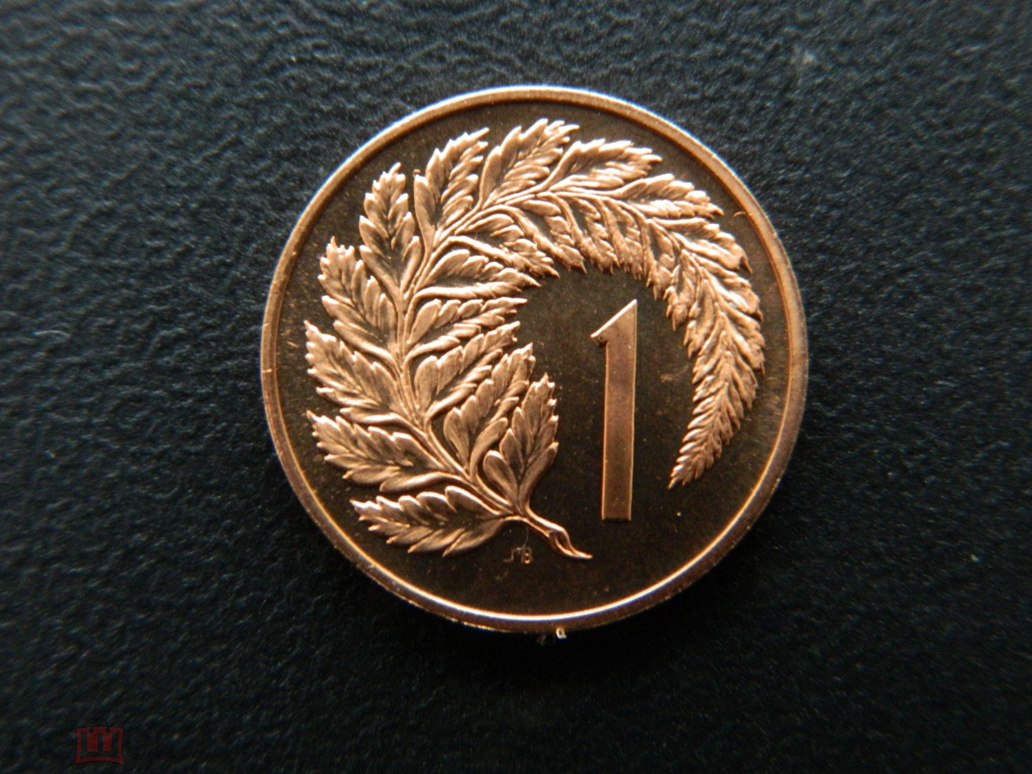 Новая Зеландия 1 цент 1967  proof