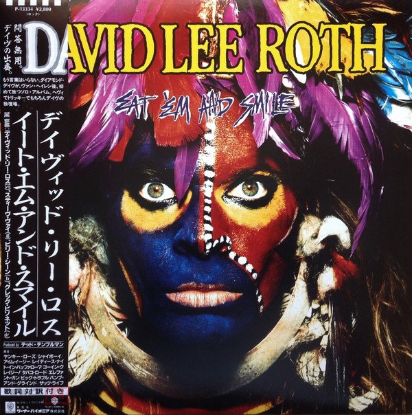 DAVID LEE ROTH 1986 EAT EM AND SMILE (JAPAN) OBI HARD ROCK (LP)