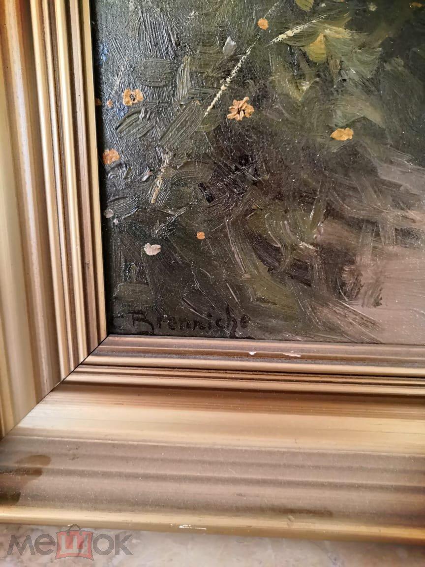 Старинная Картина Германия 20е,,в отличном состоянии, живопись, масло холст, размер 75*45см