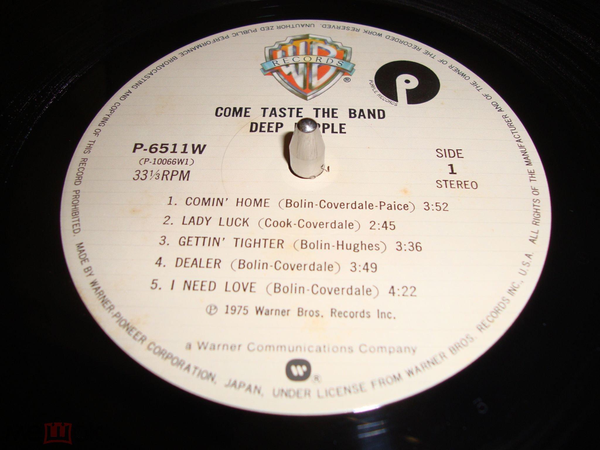 LP Deep Purple – Come Taste The Band (Japan) OBI insert ( Ltd, RE, Gat)