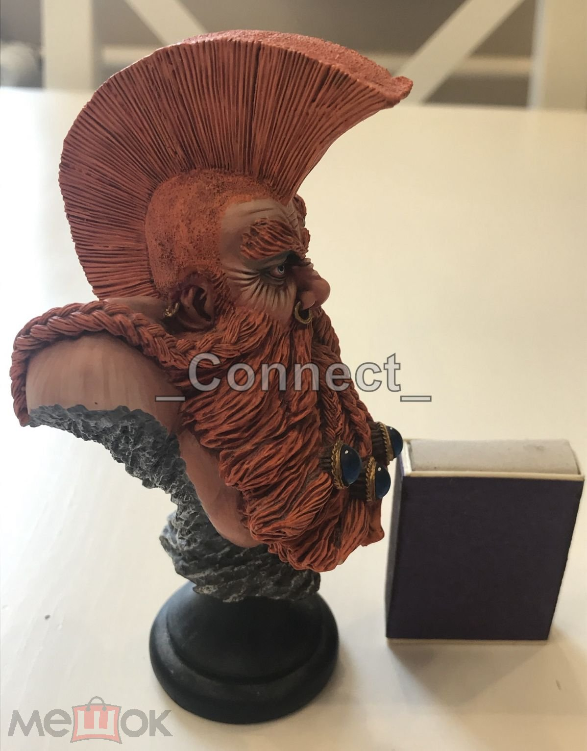 Миниатюра Troll Slayer bust Warhammer forge world, бюст Готрек убийца троллей профессиональный окрас