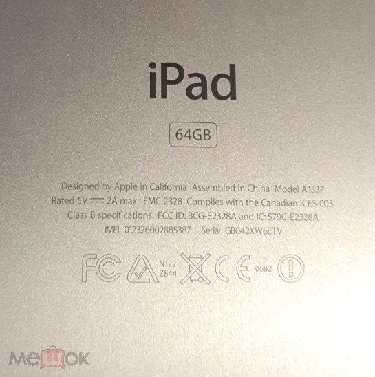 Планшет iPad 64Gb 3G WI-FI